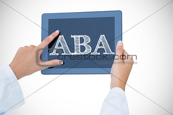 Aba against doctor using tablet pc