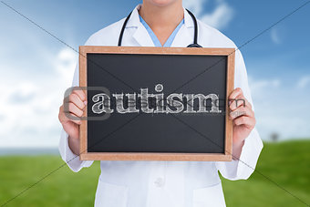 Autism against field and sky