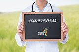 Awareness against green meadow