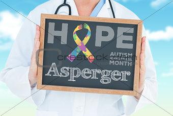 Asperger against blue sky