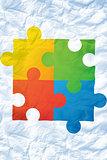 Composite image of autism awareness jigsaw