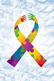 Composite image of autism ribbon
