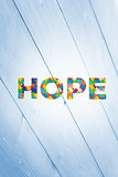 Composite image of autism message of hope
