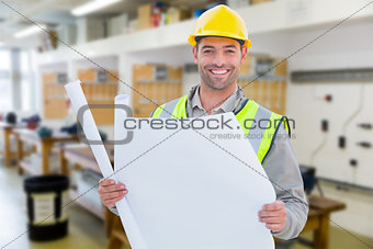 Composite image of casual architect