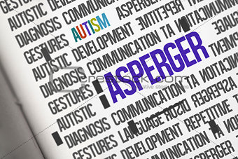 Asperger against open book