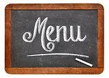 menu blackboard sign