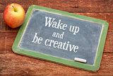 Wake up and be creative on blackboard