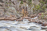 Poudre Canyon and River in Rocky Mountains