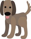 Vector illustration of a dog