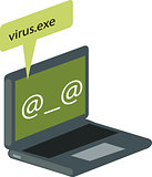 Vector illustration of computer virus