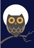 Vector illustration of an owl.