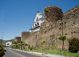 City wall of Plasencia, Spain.