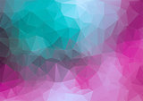 Tial pink 2D geometric colorful background