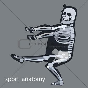 Skeleton anatomy sport male gymnastics