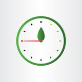 eco clock concept time for ecology abstract design