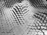 metal hexagons background
