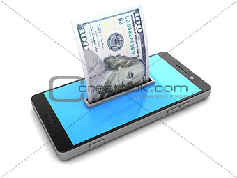 smartphone and money