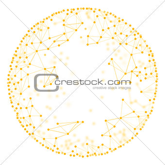 Molecule model on isolated white background