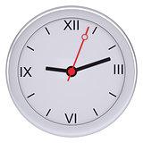 White clock on isolated background