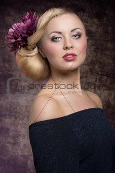charming elegant spring girl