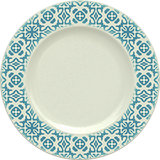 Empty porcelain clay plate with decorative frame