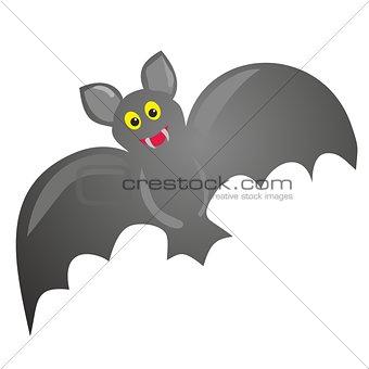 Bat vector illustration isolated on white background