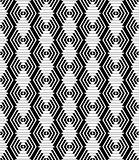 Diamonds and hexagons seamless pattern.