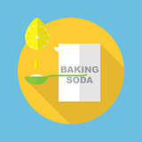 baking soda icon vector illustration