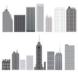 Skyscrapers set. City design elements