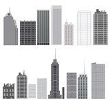 Skyscrapers set. City design elements