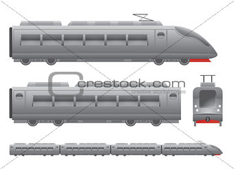 Grey Passenger train