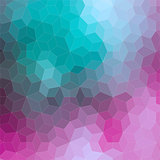 Ornamental 2D geometric colorful background
