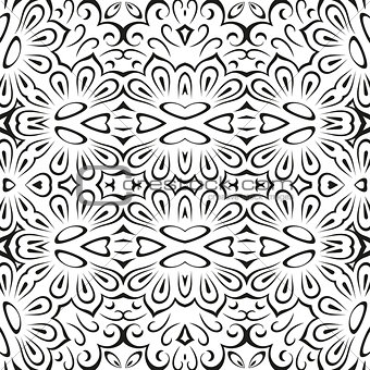 Abstract seamless floral background