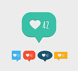 Like notification social media icon.