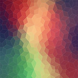 Two-dimensional geometric colorful background