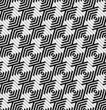 Seamless hexagons pattern. Geometric texture.