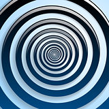 Blue spiral and gray background graphic illustration