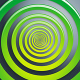 Green spiral and gray background graphic illustration