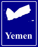 silhouette map of Yemen