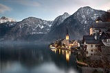 Early morning at lake Hallstatt, Salzkammergut, Austria