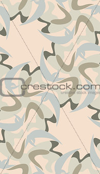 Blue and Brown Shapes Pattern