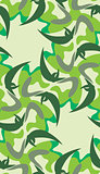 Seamless Flutting Leaves Pattern