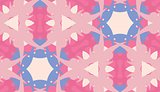 Pink and Blue Kaleidoscope Pattern