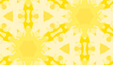 Yellow Snowflake Shapes