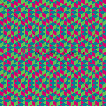 Abstract geometrical  3d background.  Seamless pattern.