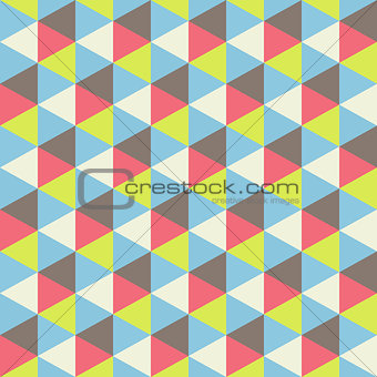 Abstract geometric seamless pattern. Vector Illustration.