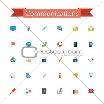 Communications Flat Icons