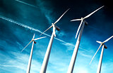 wind mills background