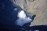 Crater of the Bromo volcano in Indonesia