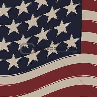 American Flag, Independence Day.